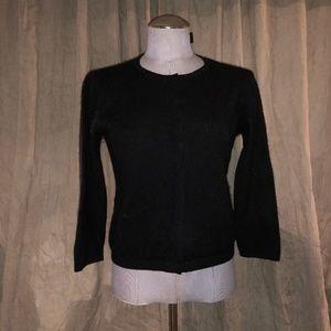 BCBG Maxazria black cashmere cardigan sweater L